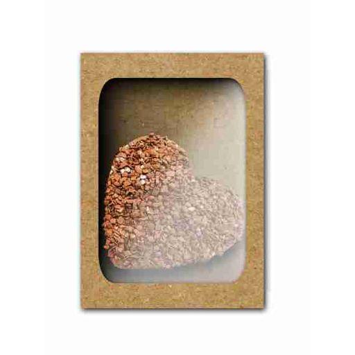 Caixa  visor acetato 250 g- Berço coração  Kraft c/ 10 uni