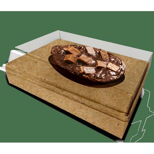 Caixa tampa acetato 500 g- Berço Ovo Kraft c/ 10 uni