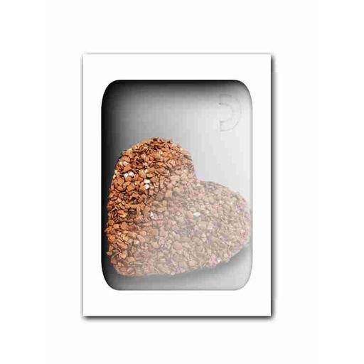Caixa  visor acetato 350 g- Berço coração Branco c/ 10 uni