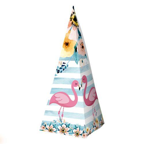 Embalagem-Caixa-Piramide---Flamingo---10-unidades