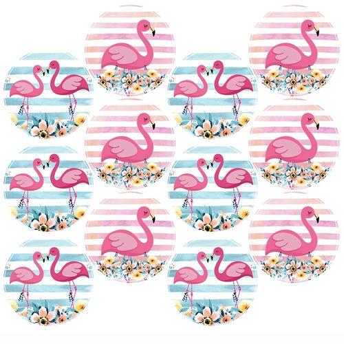 Adesivo-decorativo-para-festa-25cm---Flamingo---36-unidades