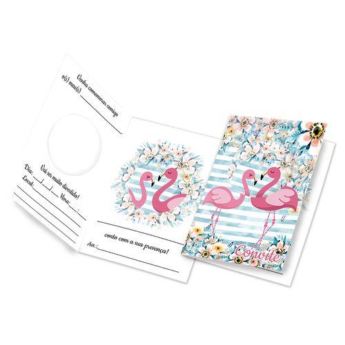 Convite-para-festa---Flamingo---10-unidades