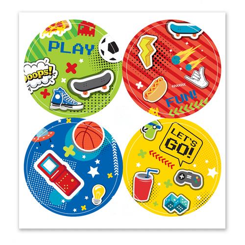 Adesivo-decorativo-para-festa-50cm---Games---20-unidades