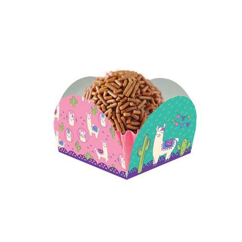 Embalagem-forminha-para-docinho-4-petalas---Lhama---50-unidades