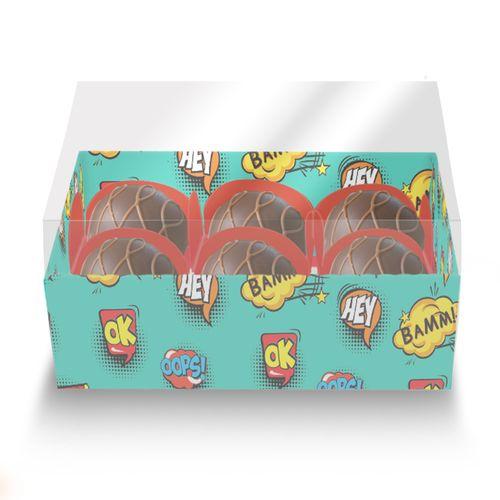 Embalagem-Caixa-de-Bombom-06-forminhas---Comic-Hero---com-tampa-de-acetato---10-unidades