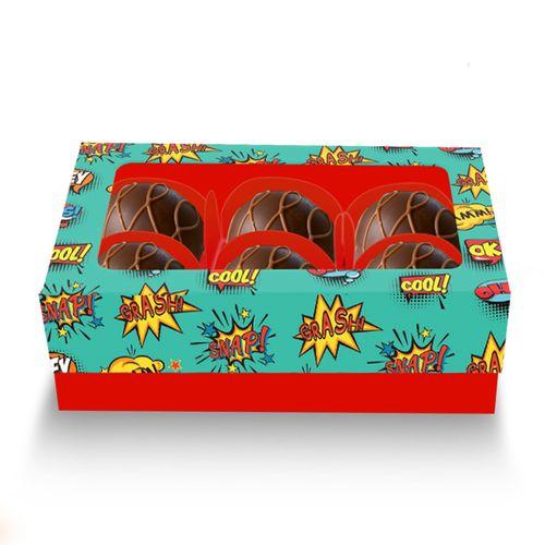 Embalagem-Caixa-de-Bombom-06-forminhas----Comic-Hero---com-visor-de-acetato---10-unidades