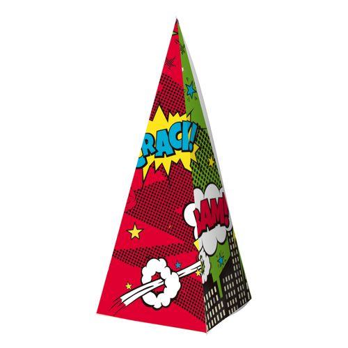 Embalagem-Caixa-Piramide---Comic-Hero---10-unidades