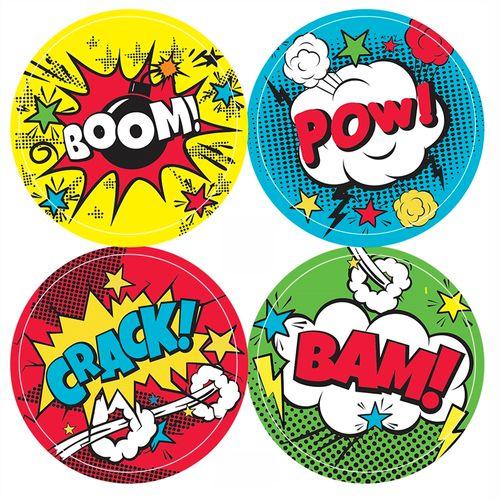 Adesivo-decorativo-para-festa-50cm---Comic-Hero---20-unidades