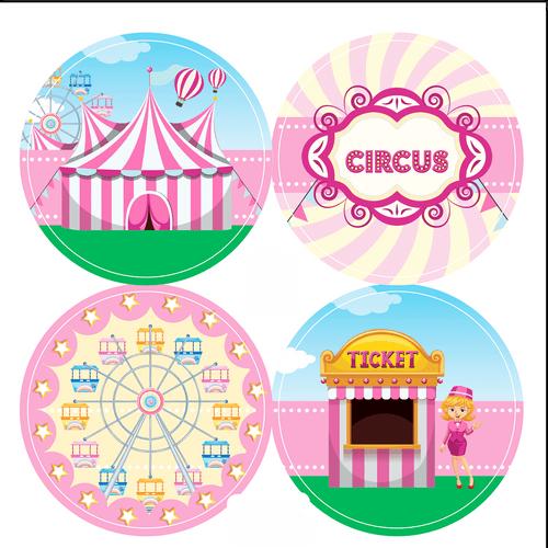 Adesivo-decorativo-para-festa-50cm---Circo-Rosa---20-unidades