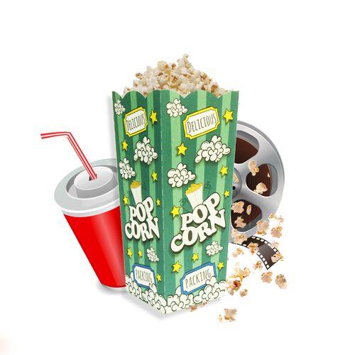 Embalagem-Caixa-Pipoca-Verde---Tamanho-1---50-Unidades